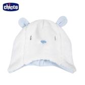 chicco-寶貝熊系列-毛絨造型帽-藍