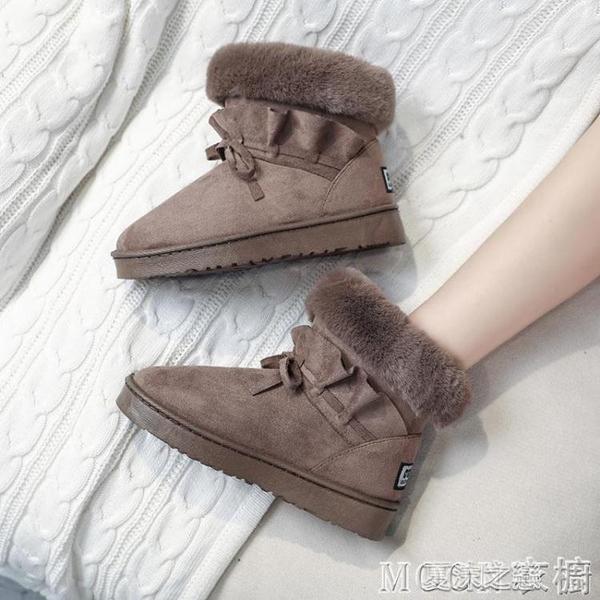 雪地靴女 雪地靴女冬季新款百搭保暖加絨加厚防滑棉鞋厚底學生短筒靴子 快速出货