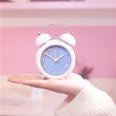 店長推薦 韓版藝術歐式小奢華鬧鐘靜音現代簡約床頭臥室創意中學生可愛鬧鐘