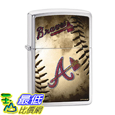 [美國直購] Zippo MLB Atlanta Braves Brushed Chrome Lighter 打火機