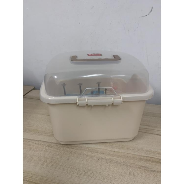 日式嬰兒奶瓶收納箱奶瓶乾燥瀝水盒收納盒奶瓶收納(23*30*26/@777-11491)