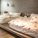 床包被套組 / 雙人加大【玫果雪酪-兩色可選】含兩件枕套,100%精梳棉  戀家小舖台灣製