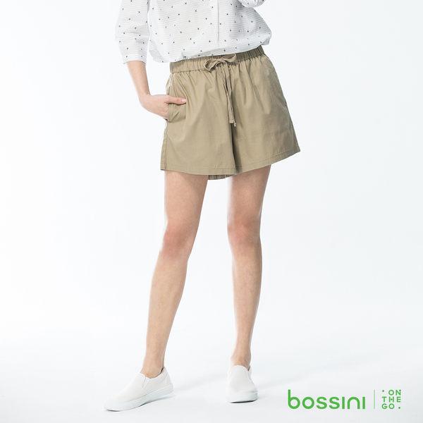 bossini女裝-素色輕便短褲/褲裙01卡其