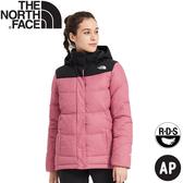 【The North Face 女 鵝絨連帽羽絨外套《粉紅》】3VRD/羽絨衣/保暖外套