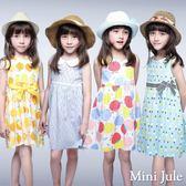 Mini Jule 女童 洋裝 冰淇淋/蘋果/刺繡花草/檸檬腰帶無袖洋裝(共4款) Azio Kids 美國派 童裝