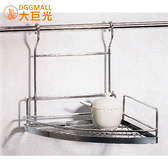 【大巨光】不鏽鋼單層轉角架/掛籃可拆/廚衛兩用(3009)