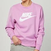 Nike NSW essntl crew 女款 粉 運動 休閒 長袖 上衣 DC5139-616