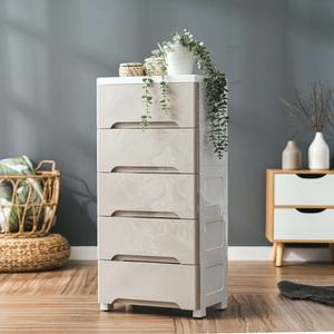 樂嫚妮 42面寬DIY可拆式五層抽屜收納櫃-附輪灰