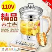 養生壺 110V伏 美國 日本多功能電熱水壺全自動加厚玻璃中藥壺 童趣