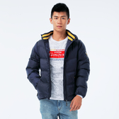 BigTrain 達人配色羅紋絲棉外套-男-深藍-B4017356