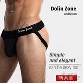 2條裝Dolin Zone男士純棉性感丁字褲雙丁透氣內褲 丁字褲 男 衣櫥秘密