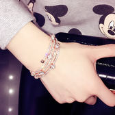 歐美多層手?手鐲水鉆日韓版甜美簡約飾品首飾學生手?手飾手鐲女 一次元【99狂歡購物節】