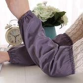 防水長款袖套男工作日用套袖女成人秋冬廚房家務防污護袖家用袖筒   9號潮人館