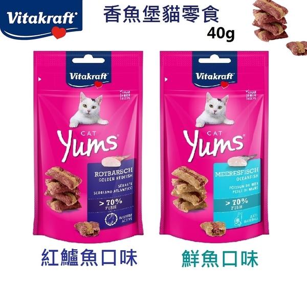 德國Vitakraft 香魚堡 40g 鮮魚口味 紅鱸魚口味 貓零食 零食 鮮魚 紅鱸魚 貓餅乾