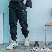 寬鬆剪裁 休閒褲【OBIYUAN】工作褲 多口袋 工裝 縮口褲 長褲 共2色【FLDD267】