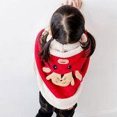 兒童聖誕節外套服裝女童斗篷披肩加厚防風【奇趣小屋】