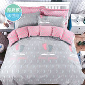 【R.Q.POLO】新絲柔系列-小腳ㄚ(涼被床包四件組-雙人標準5尺)