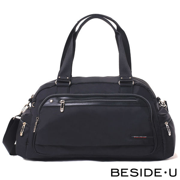 Backbager 背包族【英國 BESIDE-U】TUBE CONNECTION系列 休閒大旅行包/旅行袋-黑色