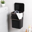 浴室臟衣服收納筐塑料放衣物的籃子簍衛生間防水帶蓋收納箱壁掛式 SN42【MG大尺碼】