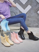 韓國時尚加絨雨鞋女膠鞋套鞋防水防滑保暖水鞋可愛成人短筒雨靴