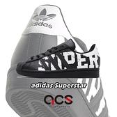 adidas 休閒鞋 Superstar 黑 白 女鞋 大LOGO設計 運動鞋【ACS】 FV2817