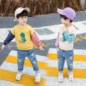 3至4到5歲男童套裝秋冬2小男孩子恐龍衣服套裝衛衣牛仔褲兩件套帥氣 LR13088【原創風館】