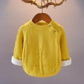店長推薦 童裝男女童加絨加厚毛衣012345歲秋冬兒童寶寶線衣嬰兒外套打底衫