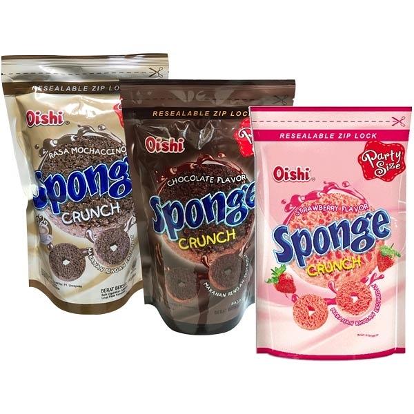 菲律賓 Oishi Sponge可可/草莓/摩卡 甜甜圈造型餅乾(110g/120g) 款式可選【小三美日】