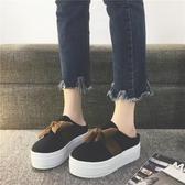 半拖 包頭鞋女新品厚底時尚外穿松糕鞋百搭坡跟一腳蹬懶人鞋潮 - 風尚3C