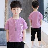 男童短袖T恤2019新款上衣體恤兒童夏裝中大童小衫潮半袖洋氣 FR10003『俏美人大尺碼』
