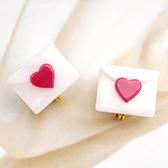 〔APM飾品〕日本Gargle 丘比特之箭白雪情書耳環 (抗過敏) (含耳夾款)