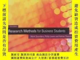 二手書博民逛書店Research罕見Methods for Business S