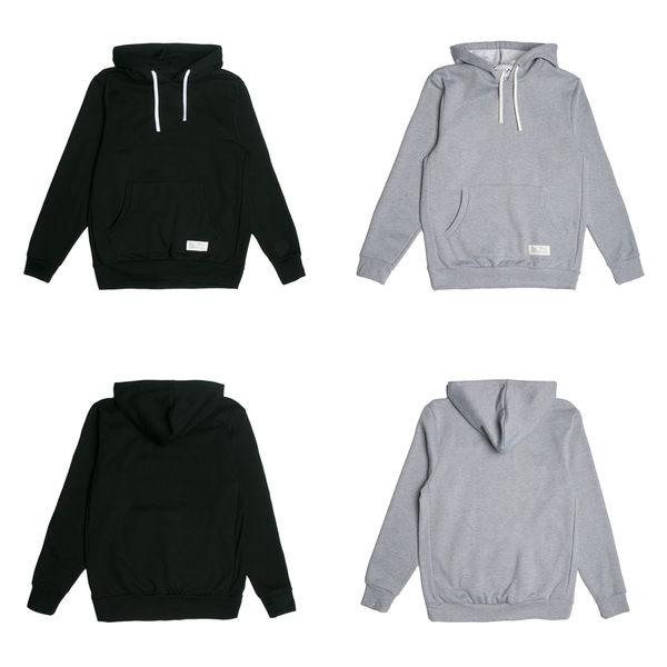 【GT】FairPlay 09 Sports 黑灰 長袖 連帽T恤 休閒 刷毛 素色 連帽 帽衫 美牌 基本款 袋鼠口袋