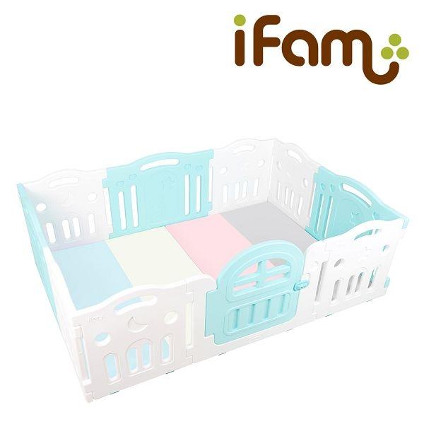 韓國 IFAM G尺寸遊戲圍欄+糖果色地墊組合(2色可選)