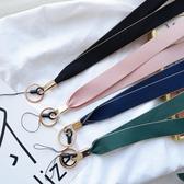 韓風簡約網紅同款手機掛繩掛脖繩子吊繩手機鏈女時尚掛飾雪紡掛繩 美眉新品