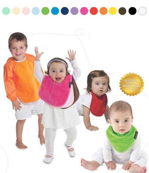 紐西蘭 Mum 2 Mum 雙面時尚造型口水巾圍兜-愛神箭/灰 吃飯衣 口水衣 防水衣