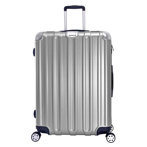 《高仕皮包》【免運費】LEAD MING微風輕量拉鍊旅行箱.20吋.銀色LG037-20-SR