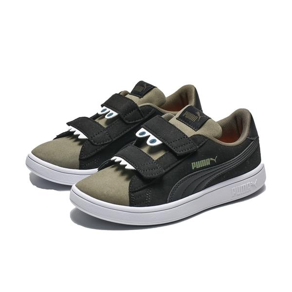 PUMA SMASH V2 怪獸 麂皮 黑 墨綠 休閒鞋 小童 (布魯克林) 36968104