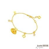 J'code真愛密碼金飾 晚宴黃金/水晶手鍊
