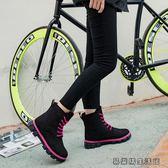 雪地靴女馬丁短靴短筒平底棉靴