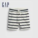 Gap男幼童 條紋鬆緊柔軟短褲 685260-海軍藍條紋