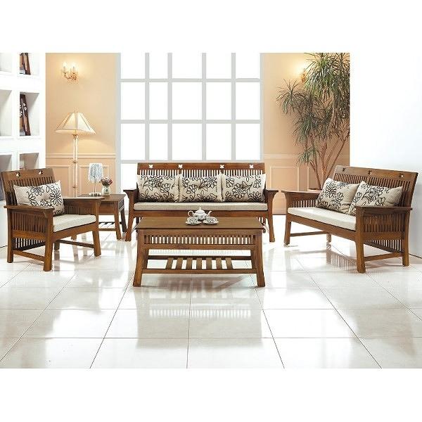 沙發組 CV-304-11 梅花柚木組椅 (含大小茶几) (不含坐墊不含玻璃) (可拆賣)【大眾家居舘】