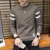 毛衣韓版線衫衣服男裝加絨加厚長袖打底針織衫【3C玩家】
