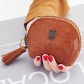 女式小錢包 女2018新款韓版簡約復古零錢包流蘇硬幣包