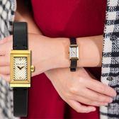 GUCCI G-FRAME 復古刻紋皮革金框腕錶 YA147506 熱賣中!