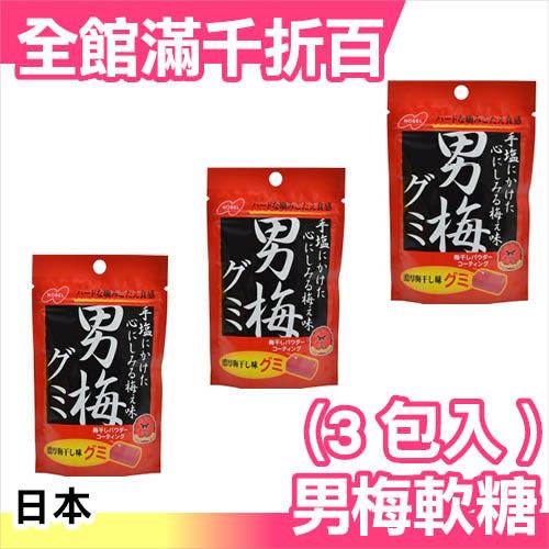 【小福部屋】日本 NOBEL 男梅 諾貝爾 紫蘇 男梅汁糖 軟糖 38g (3包入) 零食【新品上架】
