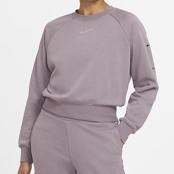 NIKE Sportswear Swoosh 女裝 長袖 棉質 休閒 印花 口袋 紫【運動世界】CZ8891-531