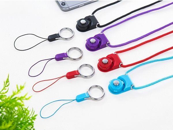 13色【手機掛繩】繽紛糖果色 可拆卸指環短吊飾 旋轉掛脖吊掛繩 掛飾吊鍊 識別證掛繩 鑰匙繩