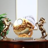 簡美現代創意馬擺件擺件