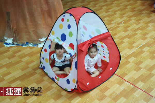 雙門三角錐折疊帳篷兒童遊戲球屋619DR